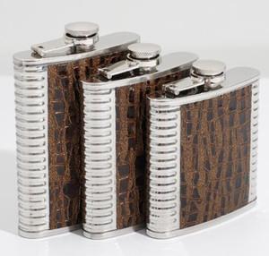 Hip Flask 6oz 7oz 8 oz portátil ao ar livre Flagon Whiskey Stoup Pot Wine Liquor Álcool garrafas de aço inoxidável acampamento ao ar livre Copos GGA3245