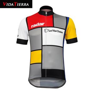VIDATIERRA 2019 мужчин задействуя Джерси Красочного La Vie Claire Wonder W Ретро одежду велосипеда WEA про команду MTB дороги вершину классических ретро честь прохладно