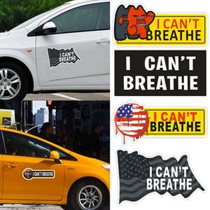 No puedo respirar etiqueta engomada del coche Auto ventana de la puerta del equipaje del monopatín pegatinas 2020 coche caliente decoración HHA1351