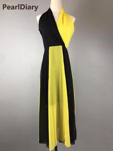Pearl Diary 2019 nouvelles femmes d'été en mousseline de soie élégante robe sexy col v femme 3 couleurs