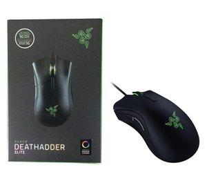 Razer Deathodder Elite Wired Gaming Mouse Mouse 16000DPI Оптический датчик Ergonomic 7 независимо Программируемые кнопки Мышь для офисной школы