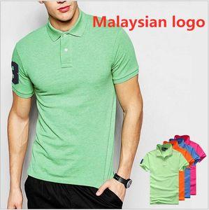 EE.UU. marca Damasco logotipo de hombre de polo de manga corta polo de los hombres de la solapa de los hombres transfronteriza estilo caliente de los hombres de comercio exterior camiseta