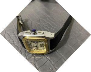 Marka LOGO lüks Üst Kalite Lüks Kuvars izle GÜN TARİH erkek tam fonksiyonel izle deri çerçeve kelebek Kol saatı ile