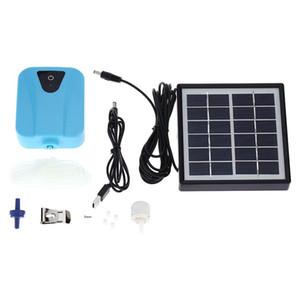 2l / min Bomba de agua Oxigenador con panel solar Camarón Aerador de oxígeno Bomba de Aerador de Acuario Pesca Oxígeno Bomba de aire Estanque