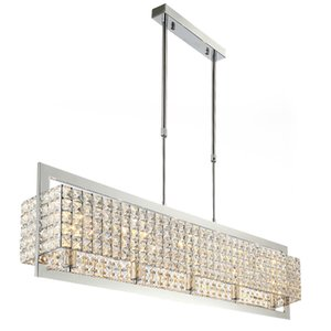 Neues Angebot Kristallleuchter-Beleuchtung für Esszimmer Rechteck Moderne Decke Kronleuchter Upscale Atmosphäre Chrome Fabrikpreis
