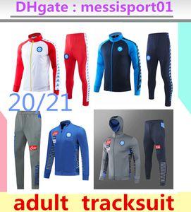 2020/2021 Napoli Survêtement Hamsik Callejon Zielinski 2020/21 Insigne SSC Naples ensemble veste longue fermeture éclair 2019 costume de football de veste