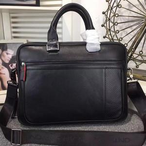 Marca Couro Laptop Bag Couro Notebook bolsa preta Pastas Man MB Laptop pastas Bags