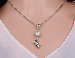 20pcs Journey Car Train Necklace Pendant Vintage Silver Charm Choker Collar Bead Statement Clavicle Necklace Women Jewelry Friendship Gifts
