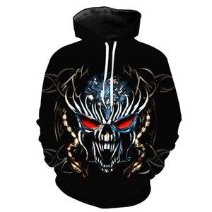 Skull King Imprimé Chapeau de poche Couverture Chapeau Tide Vêtements pour hommes Garde pour hommes Sweats hoodies Impression Chemisier