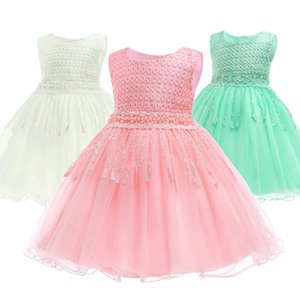 Baby Girl Dress Infant Flower Lace Gowns Kids Wedding Party Dresses For 6-24 Months B-8133