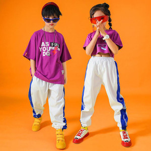 Kinder Wettbewerb Ballroom Jazz Dance Kostüme Hip-Hop-Kleidung Jungen Modern Dance Bühne tragen Konzert Kostüme Straße Outfits