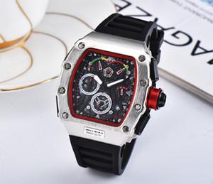 Marca de fábrica superior RM53-01 Sport relojes de los hombres Montre Moda de silicona banda reloj de cuarzo de los hombres de lujo RICHARD Hombre Reloj de pulsera Hombre