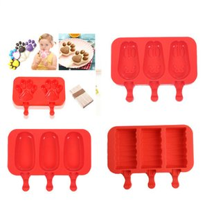 Hot vende Food Grade Silicone Ice Cream Makers Oval silicone ice cream molde forma de coelho picolé mould máquina de fazer picolé
