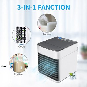 Portable Air Conditioner Usb Desktop Air Cooler Fan Air Conditioning Humidifier Mini USB Cooling Fan Sea Shipping LJJO8058