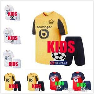 Los niños de calidad mejores kit Lille LOSC jersey 2019 2020 hogar PEPE # 19 REMY # 9 # 14 BAMBA R.LEAO nº 7 fútbol de los niños camisas de Jersey de fútbol