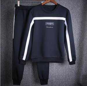 Spring Autumn New Brand Men's Clothing Youth Casual Coat Sportswear Suit Black White And Blue 3 Colors Tracksuit For Mens