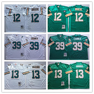 NCAA Mens costurado Jersey vintage camisetas Bob Griese Dan Marino Larry Csonka Bordado Futebol Jerseys costurado