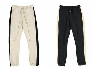Mens del progettista dei pantaloni pantaloni NEBBIA timore di Dio Striscia di cuciture laterali Retro Pantaloni Pantaloni felpa elastico in vita delle donne di pista di marca di modo