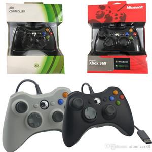 Contrôleur de jeu de haute qualité pour Xbox 360 Gamepad Noir fil USB PC pour XBOX 360 Joypad Joystick Accessoire pour ordinateur portable PC DHL