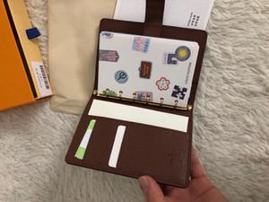 ORTA KÜÇÜK HALKASI GÜNDEM KAPAK Tasarımcı Bayan Moda Notebook Kredi Kart Sahibi Vaka Lüks Cüzdan simgesel Kahverengi Su geçirmez Tuval R20005