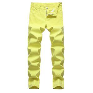Más el tamaño para hombre de los pantalones vaqueros de diseño sólido de la manera mediados de cintura de los pantalones sueltos recta ocasionales de los hombres pantalones largos