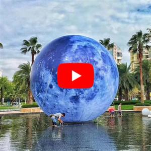 Led-Ballone Customized Planet Werbung Kugel Aufblasbarer Mond mit Licht für Partyangebot und Konzert Dekoration