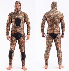 Neue Heiße Verkauf 5mm Neoprenanzug Ganzkörpertauchen Neoprenanzug Coldproof Surfing Suit 2 Stück Spearfishing Neoprenanzug