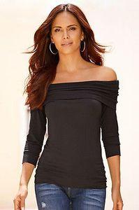 Женщины леди Сексуальная с плеча повседневная футболка топ черный тонкий черный футболка женщина Леди девушка футболка