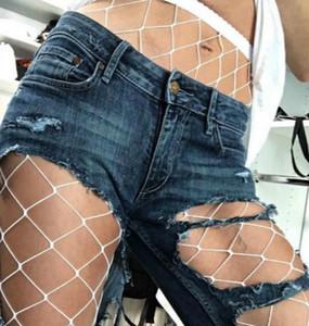 As meninas das mulheres Fishnet respirável Elastic Coxa alta meias calças justas de malha Lace Fish Net Pantynose Sanwood cintura alta Meia 2colors