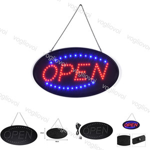 LED Open Sign Advertising Light Billboard Shopping Mall Bright Animated Motion Business Store Open Shop Billboard US EU Plug EUB