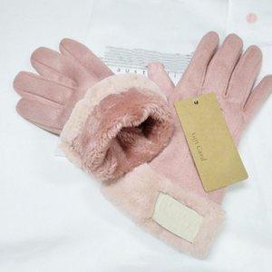Kadınlar Kış Açık Sıcak Five Fingers Suni Deri Eldiven Toptan için 2020 Yeni Marka Tasarım Faux Kürk Stil Eldiven
