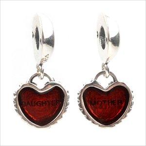 Bir Çifti Yapımı Avrupa Tarzı Fit Pandora Charms Bilezik Kolye 925 Gümüş Anne Ve Kızı Kalp kolye Boncuk DIY Takı