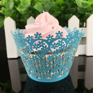 Cup Cake Little Vine Lace Laser Cut Cupcake Wrapper Liner Baking Cup Hollow Paper Cake Cup DIY Baking Fondant Cupcake