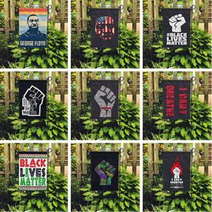 16 styles je ne peux pas respirer vie noire Matière Drapeau de cour en plein air pour la maison articles de fête défilé drapeau de jardin 45 * 30CM 6089