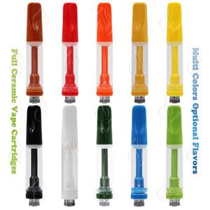 Новые Full Pure Ceramic Vape Тележка густого масло Картриджи Катушка трубы несколько цветов для различного вкусов Vapor Испарителя Pen E сигареты Атомайзера