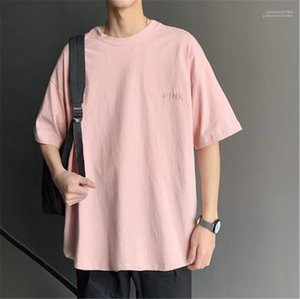 التنانير الصيفية Mens مصمم تنانير أزياء Slolid اللون قصير الكم فضفاض Tees Ins Style Mens فضفاضة