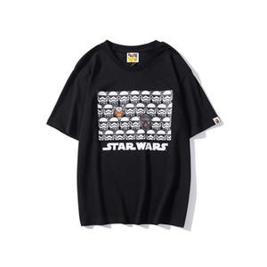 estrela de guerra 2020 Mens Mulheres Brandt-shirt Designershirts Luxo shirts Rua Hiphop camisetas Verão camisetas mangas curtas com capuz B20022002T