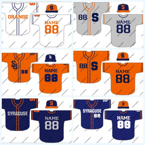 Сиракузы Оранжевый NCAA колледж бейсбол Джерси Для женщин людей молодежи Двойной прошитой Имя Номер High Quailty заказ смешивания Бесплатная доставка