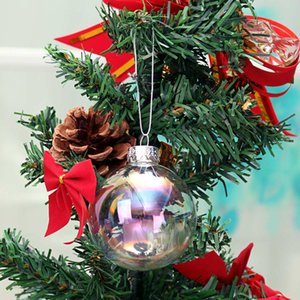 Árbol de Navidad Decoración colgante colgante de cristal de la Navidad Ball Drop ornamentos iridiscentes bola Chucherías Esfera