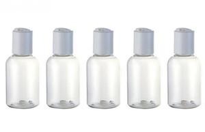 50 ml de la loción de crema portátil kits de viaje cosméticos contenedor vacío pequeña botella de plástico transparente con tapa de disco