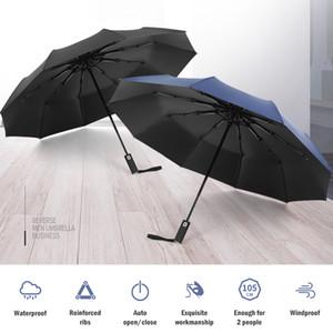 자외선 차단 기능이있는 자동 우산 윈드 럽트 여행용 우산 Tefloning Coating 10 Ribs Automatic Canopy Folding