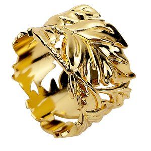 Beautiful Stylish Alloy Napkin Serviette Ring Holder Wedding Party Table Decor - Leaves Elk Pony Christmas Tree Fan Pinetree