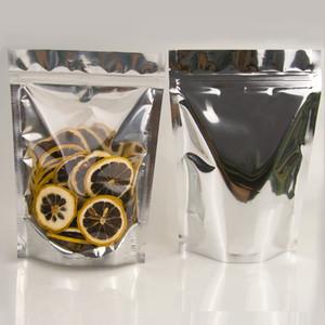 Ucuz mylar çanta kokusu geçirmez Gıda Saklama çanta folyo Frond Temizle rengi Geri alüminyum poşet ayağa