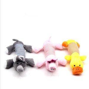 Haustier Hund-Ton-Spielzeug Sightly Schöne Chew Plüsch Spiele Toys Welpen-Katze-Training Spielzeug Vierbeinige lange Ente Hundetierbedarf 24 * 15CM LXL723-1