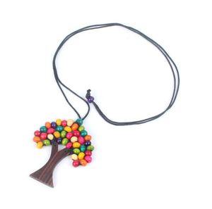 Colar das mulheres Exagera Individualidade Natural Log Beads Árvore da Vida Elementos Naturais Boêmio Moda Jóias frete grátis