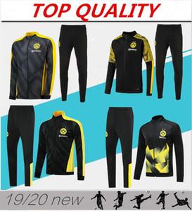 2019 2020 Veste de football Borussia Dortmund Long Survêtement Survêtement fermeture à glissière 19 20 sport Survetement REUS M.GOTZE porter kit veste de football