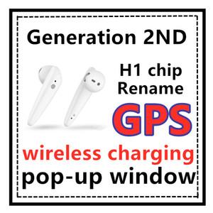 Novo chip h1 TWS 2 geração de fone de ouvido Bluetooth sem fio cobrando janela pop-up Auscultadores Super Bass Earbuds pk i18 i200 i500 i10000 TOP