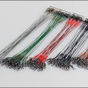 Lider Donanımları Çelik Tel Balıkçılık Hattı Spinning Araçlar 10pcs Balıkçılık Tel Liderleri Paslanmaz Çelik Örgü İz