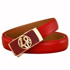 love belts for women waist designer brand high quality real leather automatic ratchet belt female jeans Cummerbunds