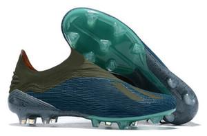 2019 X18.1 Knitting impermeable Copa Mundial FG zapatillas de entrenamiento de fútbol, X18 de punto FG tachonada botas de fútbol con tacos, zapatos con tacos de clavos